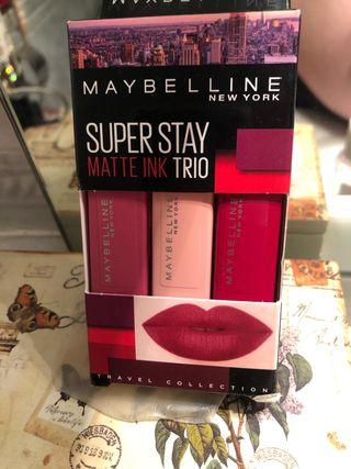 Maybelline superstay matte ink set/pack