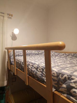 Valla madera para cama