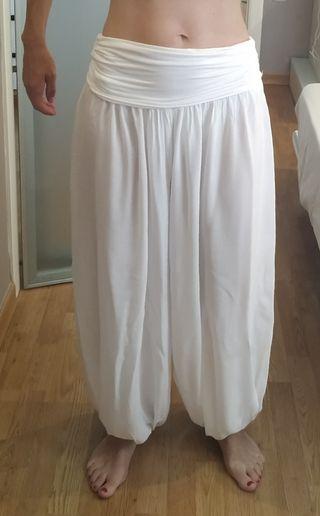 Pantalon Yoga Blanco talla Unida