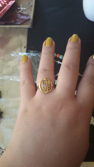 anillo acero inoxidable talla m/l