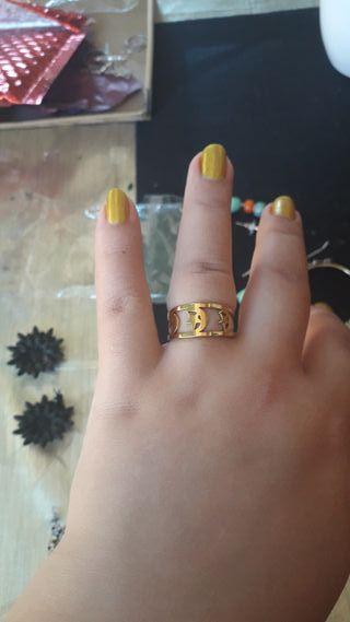 anillo de acero inoxidable talla m/l