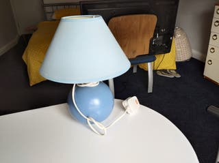 Blue lamp with light included.