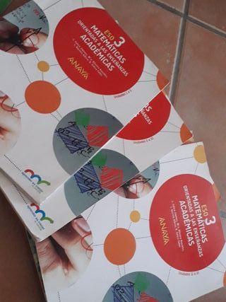 libros de matemática 3 ESO