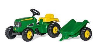 Tractor a pedales John Deere con remolque nuevo