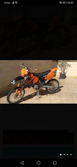 se vende o se cambia ktm sx 124 2004