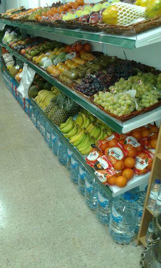 estanterías de frutería