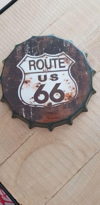 Chapa decorativa Route 66