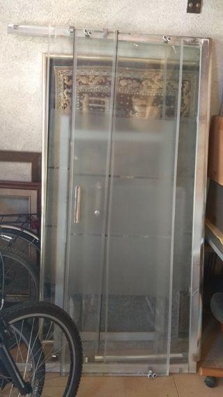 Mampara de ducha-bañera aluminio
