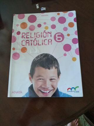 Libro de religión católica de 6 de primaria