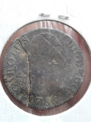 2 reales de plata de 1795 de Carlos IV (España)