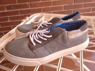 Zapatillas de tela gris talla 39
