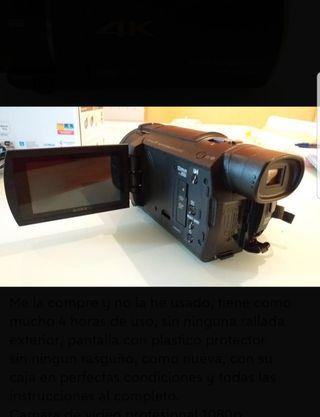 Videocámara SONY Calidad 4k   FDR AX53