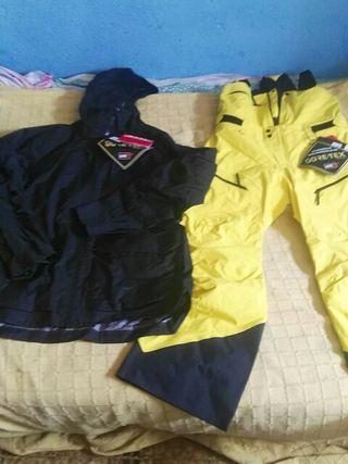 peto y chaqueta de esquiar