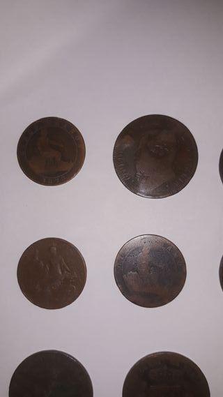 monedas de bronze