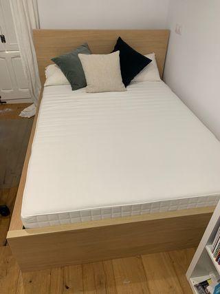 Cama 140x200 Ikea + colchón + edredon