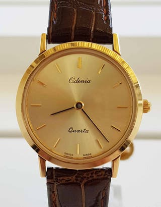 890-RELOJ ODENIA, VINTAGE, gold electroplated 20 m