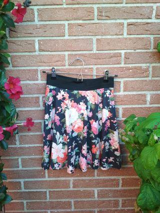Falda estampada flores