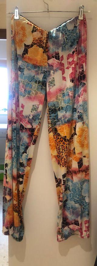 Pantalón ancho colores talla única