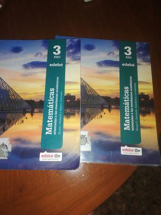 Matemáticas académicas 3 ESO Bloque I y II EDEBE