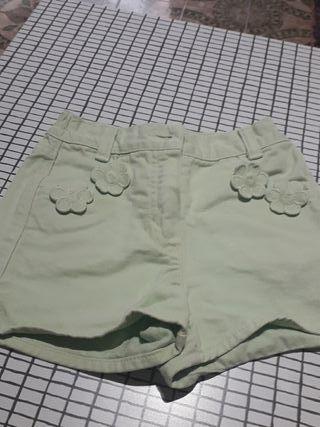 pantalones cortos para niñas talla 2 años