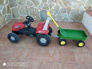 tractor, remolque y pala niño.