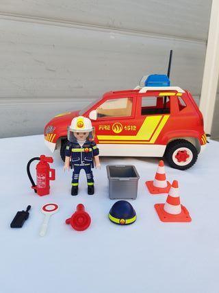 Playmobil 5364 coche jefe bomberos