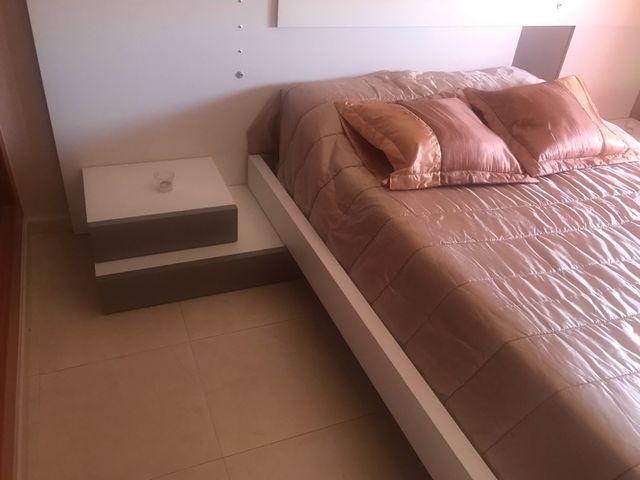 Tatami de madera,para cama de 1,35 y 1,50 blanco