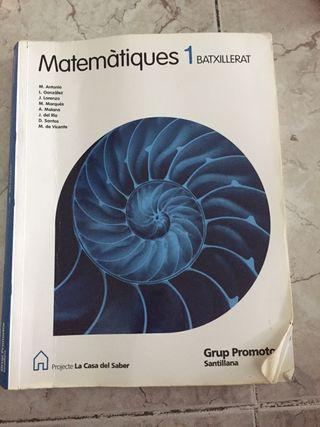 1BATXILLERAT libro de matemátiques