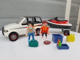 Playmobil 5965 vehículo remolque moto