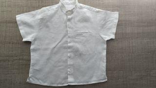 Camisa de lino bebé Schuss T:9-12 m.Ropa bebé