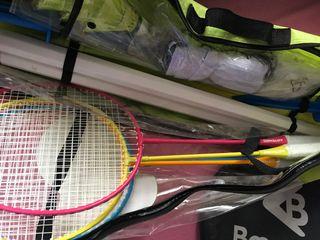 Set 4 raquetas bagmigton más la red