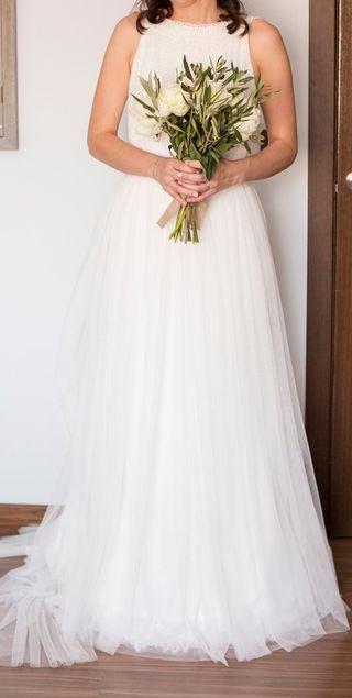 Vestido de novia bohemio boho vintage