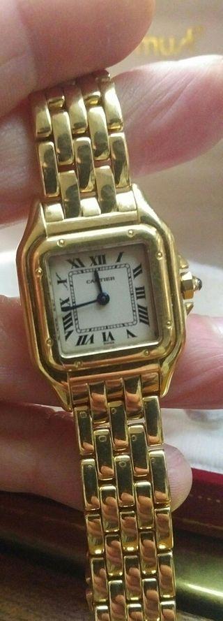 Reloj Cartier mujer oro.OCASION!
