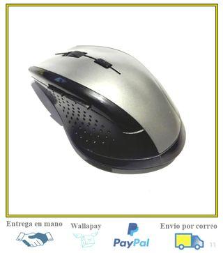 Raton optico inalambrico ergonomico 5 botones