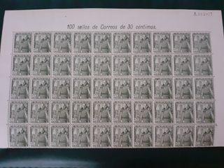 hoja 50 sellos Franco 1948