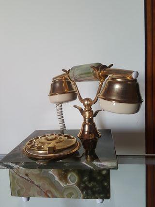 Teléfono vintage de mármol