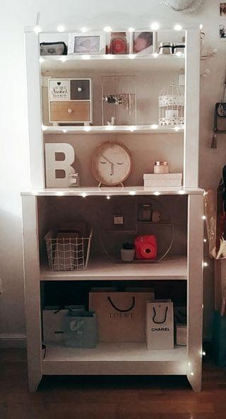 Mueble blanco, estantería, librería, decoracion