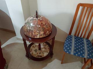 mueble / bola del mundo minibar bebidas