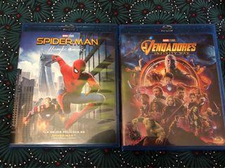 2 Bluray Avengers Infinity War y Spiderman