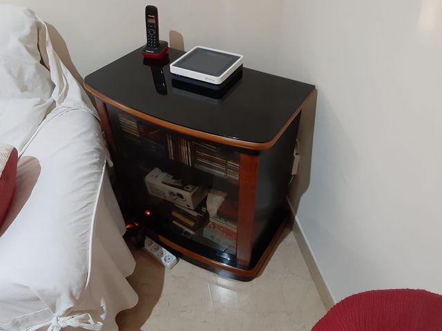 mesa de cristal para televisión