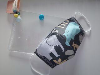 Mascarillas con estuche higiénico para niño y niña