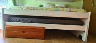 dormitorio juvenil, cama nido