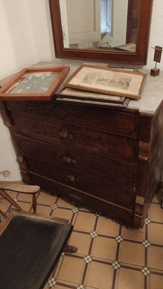 Mueble tocador antiguo para reformar