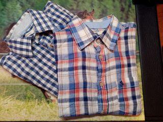 2 camisas verano 8-9 lino