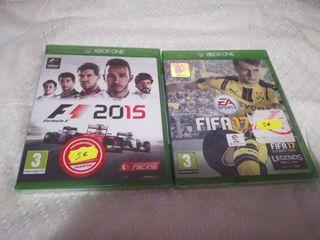 PACK JUEGOS XBOX ONE F1 & FIFA 17