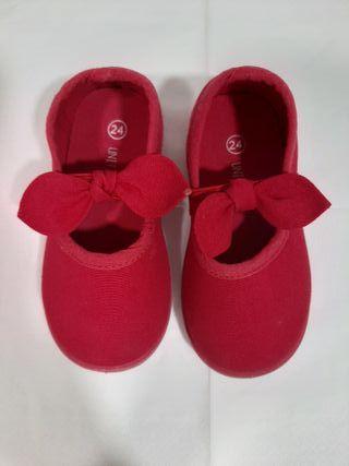 Zapatillas de lona con lazo de niña
