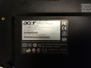 PROYECTOR ACER P5205 negociable