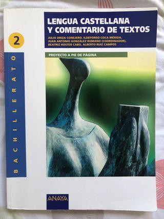 Lengua castellana y comentarios de textos