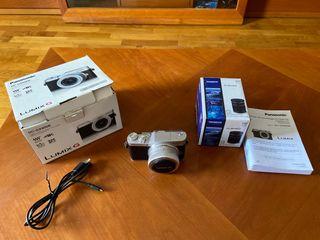 Lumix G Panasonic 4k y objetivo olympus m.zuiko