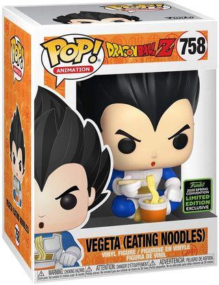 Funko Pop Vegeta Eating Noodless 759 ECCC 2020 exc